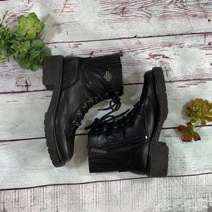 Harley-Davidson black combat/riding boots